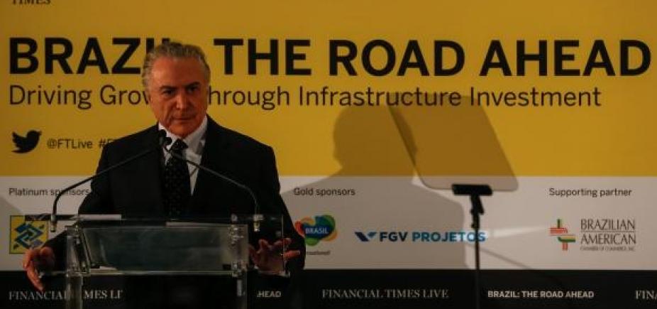 [Em Nova York, Temer diz que Brasil é um destino seguro para negócios]