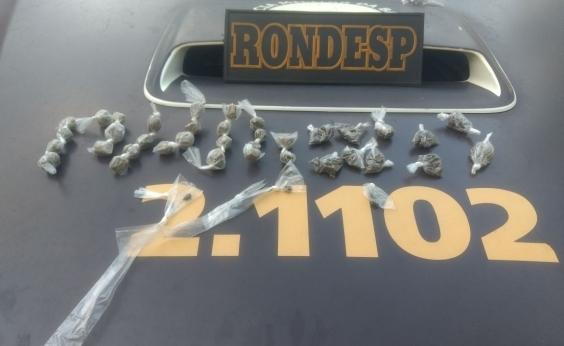 Equipe da Rondesp flagra homem tentando traficar no Nordeste de Amaralina