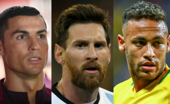 Cristiano Ronaldo, Messi e Neymar são os finalistas do prêmio de melhor do mundo da Fifa