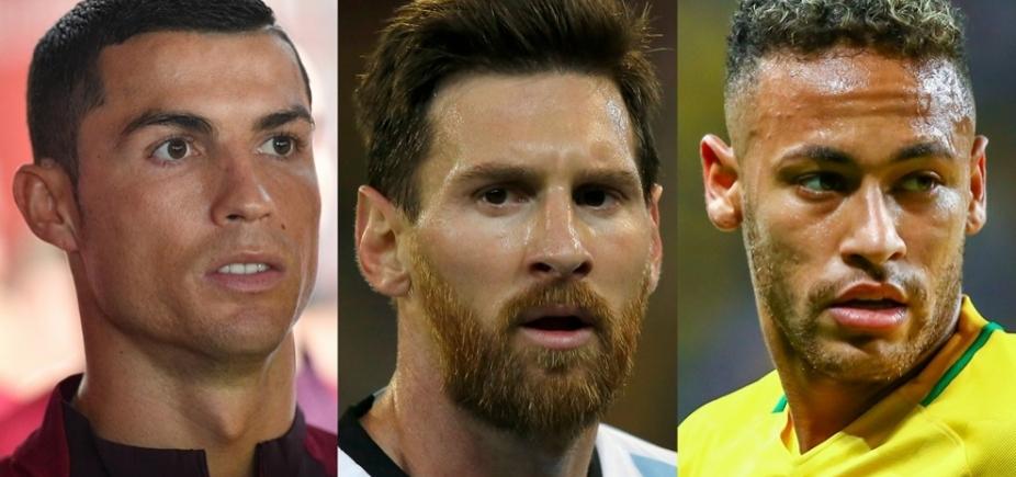 [Cristiano Ronaldo, Messi e Neymar são os finalistas do prêmio de melhor do mundo da Fifa]