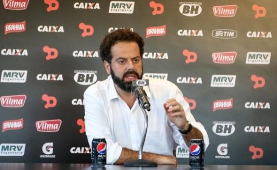 Após derrota, presidente do Atlético-MG demite técnico e polemiza:  Não posso aceitar perder para o Vitória