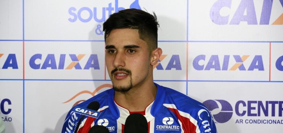 [Zagueiro do Bahia destaca chance de ser titular após se recuperar de lesão]
