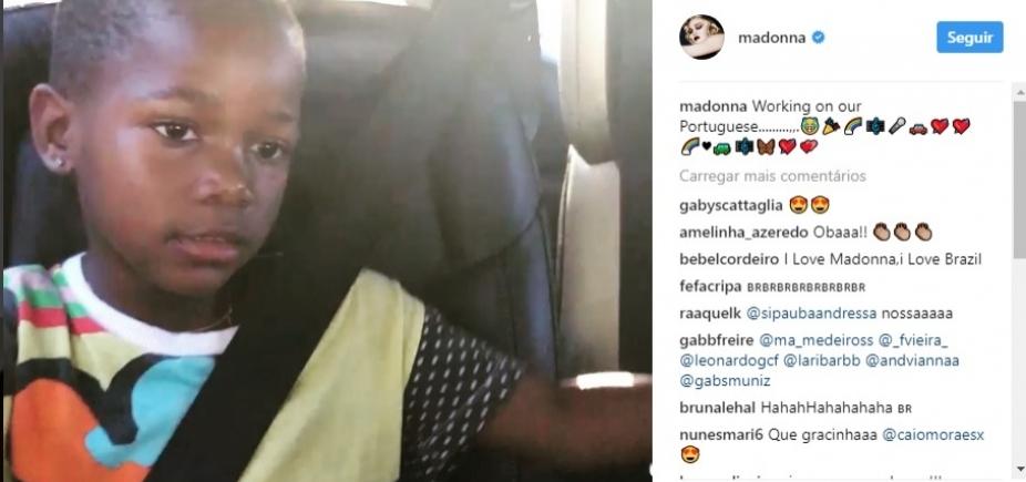 [Madonna ensina português às filhas com ajuda de funk brasileiro; vídeo]