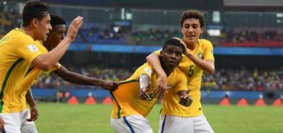 [Seleção brasileira sub-17 vence Espanha por 2 a 1 na estreia do Mundial]