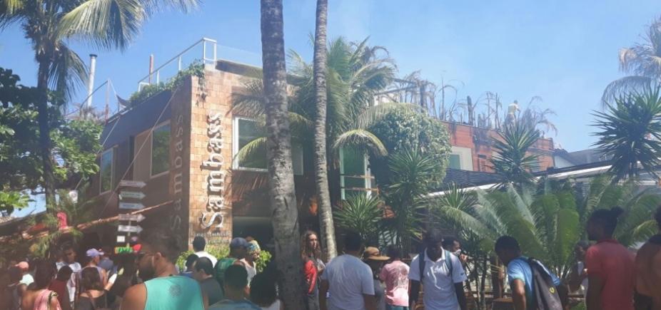 [Incêndio atinge estabelecimentos comerciais em Morro de São Paulo na tarde desta quinta]