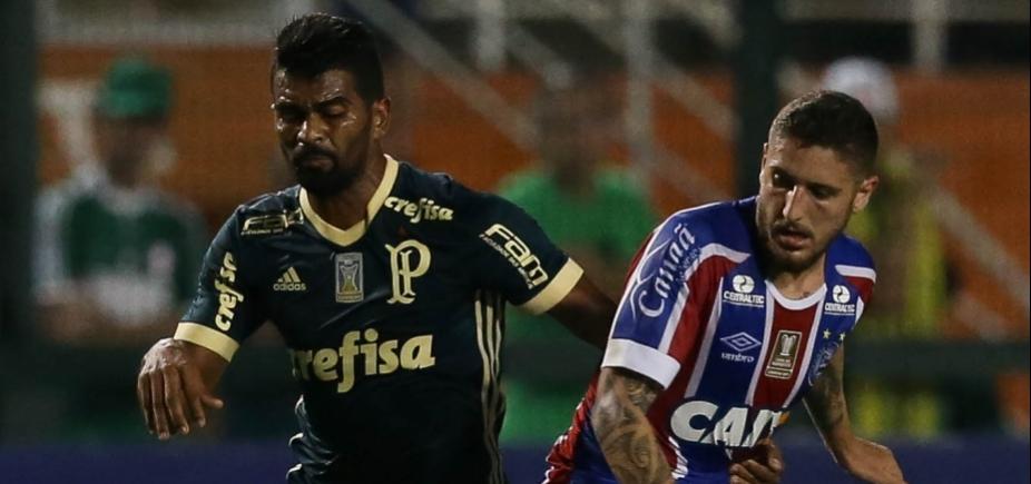 [Com gol no fim, Bahia arranca empate com o Palmeiras em 2 a 2]