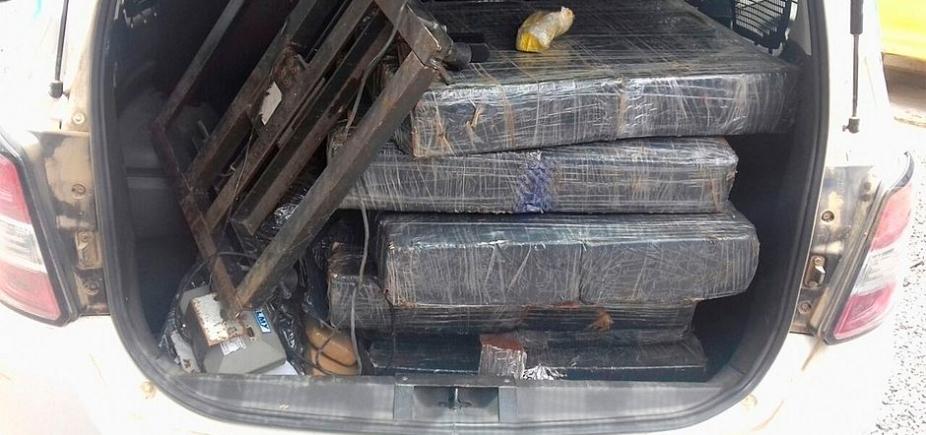 [Depois de denúncia, 164 kg de drogas são apreendidos em Santo Estêvão]
