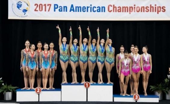 De virada, meninas da ginástica rítmica batem EUA e levam outro no Pan-Americano