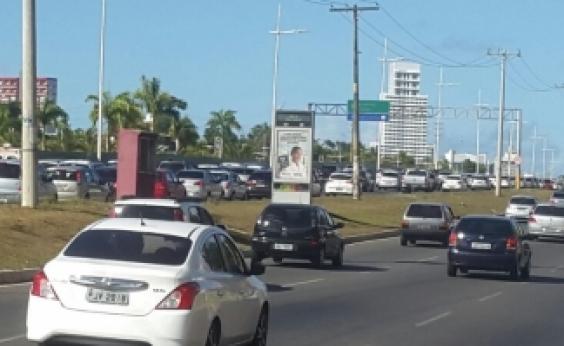 Terça-feira começa sem acidentes, mas com lentidão em diversos pontos da cidade