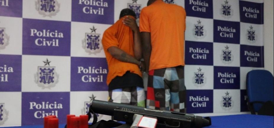 [PM prende acusados de homicídio e apreende submetralhadora americana em São Cristóvão]