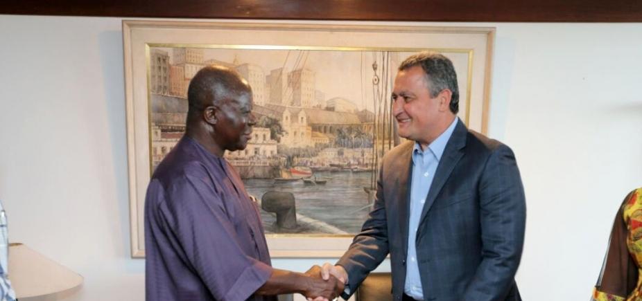 [Governador recebe a visita do rei da nação Ashanti, de Gana]