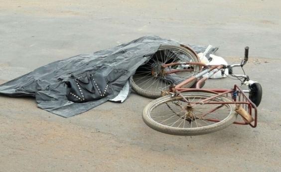 Ciclista de 48 anos morre ao ser atropelada por caminhão em Barreiras