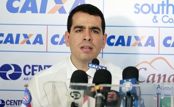 Presidente do Bahia decide não concorrer à reeleição, diz site