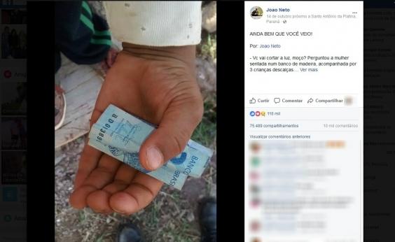Menino mostra honestidade ao guardarR$ 2 de troco a eletricista; entenda