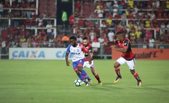 Bahia perde de goleada para o Flamengo por 4 a 1 e despenca na tabela da Série A