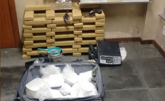 Operação da SSP prende seis suspeitos e apreende 67 kg de drogas em Feira de Santana