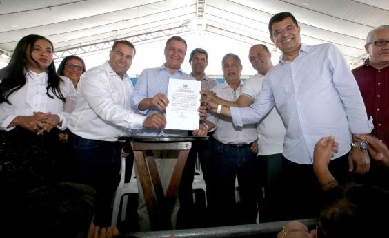 Em Ibicaraí, Rui lança plano para de revitalização do Rio Cachoeira