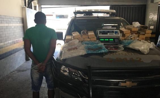 Suspeito de tráfico de drogas é preso com 35 kg de maconha em São Cristóvão
