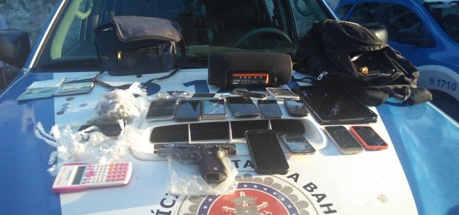 [Rastreador de celular ajuda polícia a prender quadrilha após assalto no Largo de Roma]