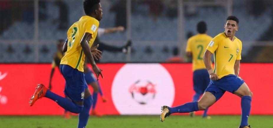 [Sub-17: Brasil bate a Alemanha de virada por 2 a 1 e se classifica para semifinal da Copa do Mundo]