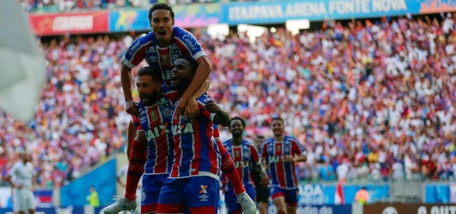 [Com gols só no segundo tempo, Bahia bate o Vitória por 2 a 1 na Fonte Nova]