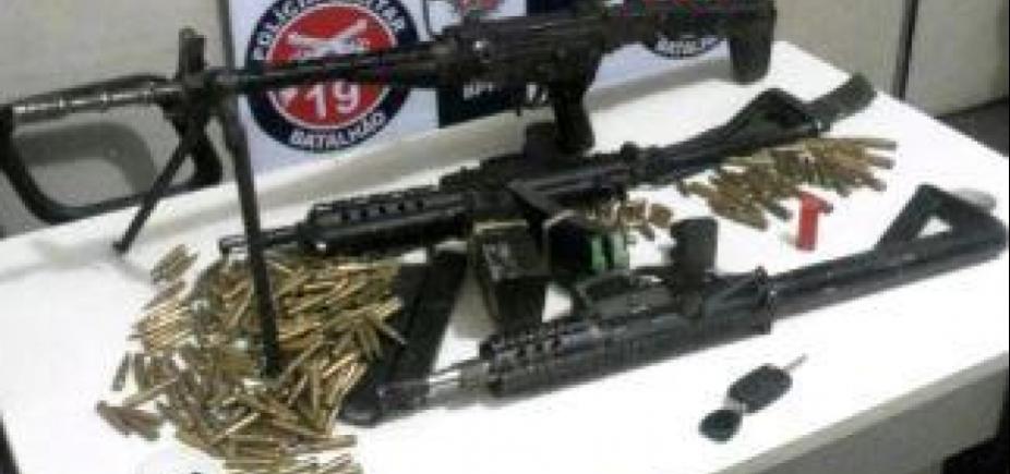 [Após troca de tiros com suspeitos, PM apreende fuzil e duas submetralhadoras em Jequié]