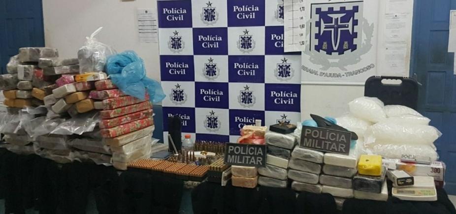 [Jovem de 19 anos é preso com 647 unidades de munições e 87 kg de drogas em Porto Seguro]