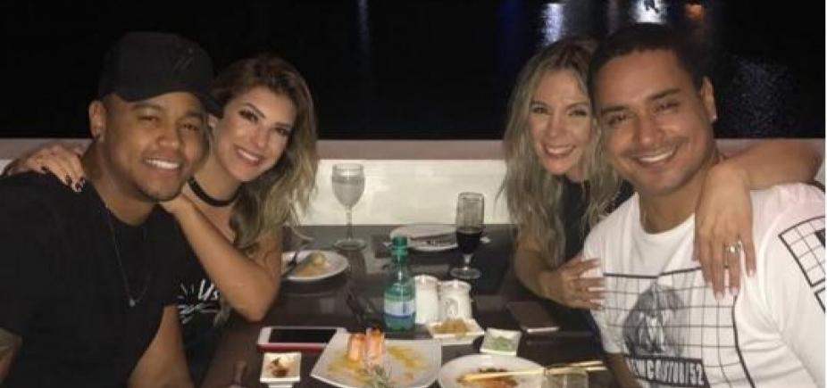 [Xanddy e Carla jantam com Léo e Lore Improta e anunciam novidade]