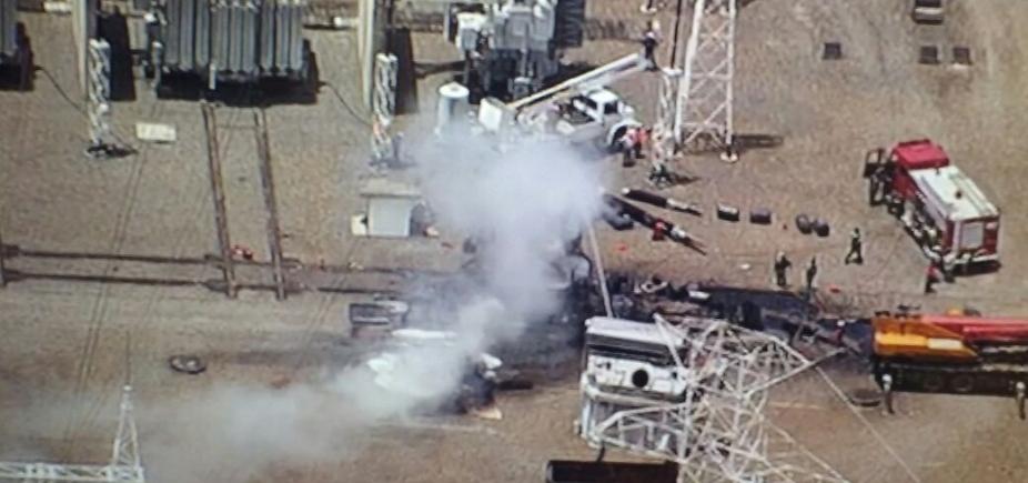 [Transformadores pegam fogo em subestação da Chesf em Dias DʹÁvila ]
