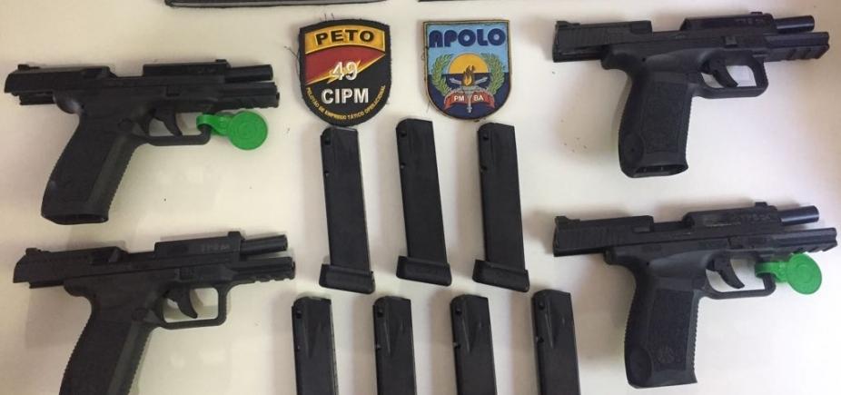 [Polícia apreende quatro pistolas de fabricação turca em São Cristóvão]