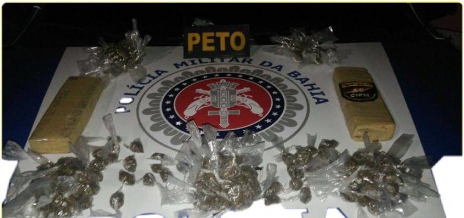 [Polícia apreende drogas e adolescentes em Barra do Pojuca]