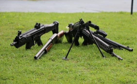 Polícia baiana já apreendeu mais de 3,8 mil armas em 2017