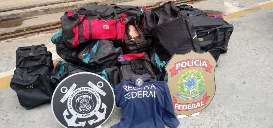 [541 kg de cocaína são apreendidas pela Receita Federal no porto de Salvador]