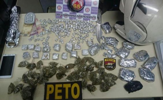 Quadrilha é presa com 13 kg de maconha e cocaína em Maria Quitéria