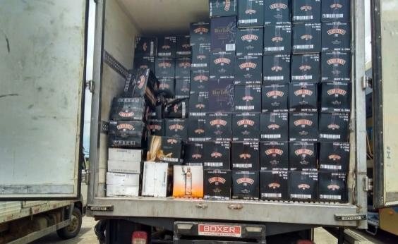 Carga de bebidas avaliada em quase meio milhão de reais é recuperada na Bahia
