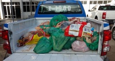 Dupla é presa com carnes clandestina, 60 mil cigarros ilegais e mídia pirateada
