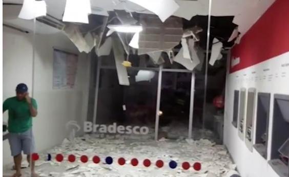 Mais duas agências bancárias são explodidas durante a madrugada no interior da Bahia