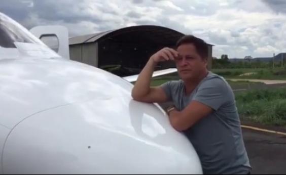 Jatinho do cantor Leonardo atola em pista do aeroporto de Barreiras: ʹAcontece de tudoʹ