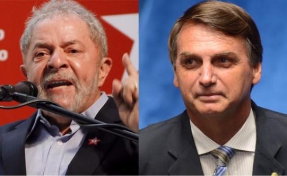 Nova pesquisa confirma Lula em 1º; com petista fora, Bolsonaro lidera