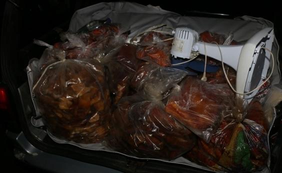 Operação resulta em apreensão toneladas de carne e frango na BR-324