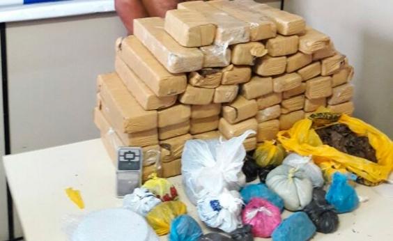 Polícia descobre casa usadacomo depósito de drogas emIlhéus
