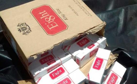 Quase 8 milhões de cigarros contrabandeados são apreendidos pela PRF