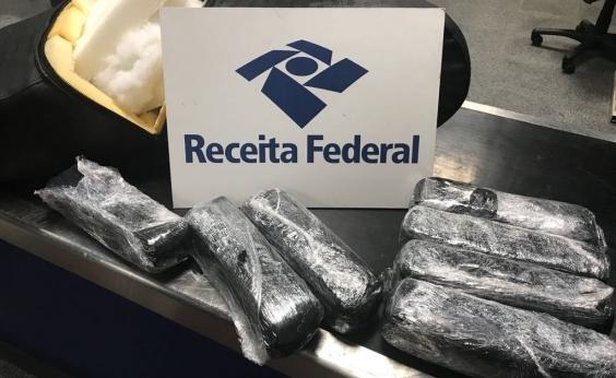 Receita Federal apreende 7 kg de droga em aeroporto de Salvador