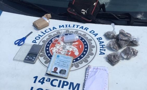 Acusado de tráfico, ʹNeymarʹ é preso com cocaína, maconha e craque no Subúrbio Ferroviário
