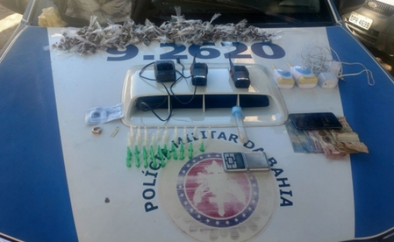Mais de 500 porções de drogas são encontradas em Brotas