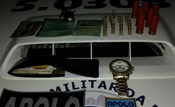 Assaltantes de banco são presos em Campinas de Pirajá