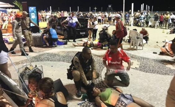 Carro atropela 16 pessoas em Copacabana; bebê morre