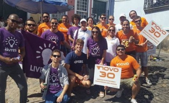 Livres da Bahia ʹcasaʹ em bloco com o partido Novo