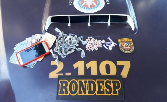 Mais de mil porções de drogas são apreendidas pela polícia