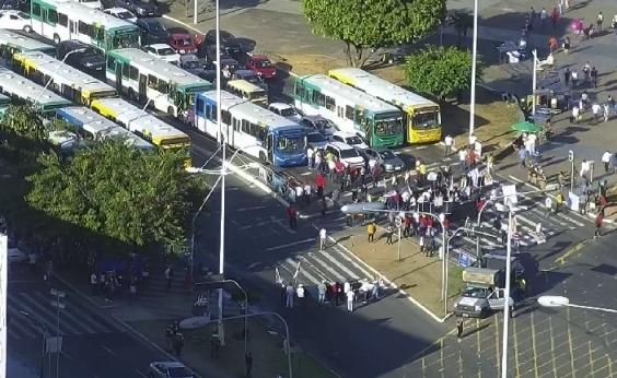 Protestos contra reforma da Previdência congestionam Salvador; veja trânsito
